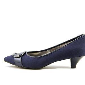 Anne Klein Leather Kitten heels